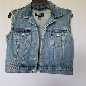 POLO JEANS CO. RALPH LAUREN denim VEST SIZE SMALL